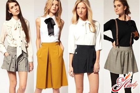 шорты юбка зимние женские