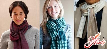 как носить шарф стильно - узел петля