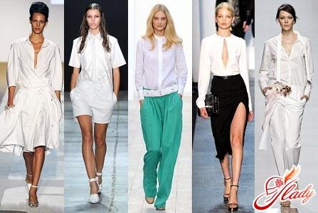 модная белая блузка 2016
