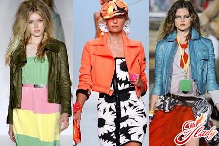 женские цветные куртки весна