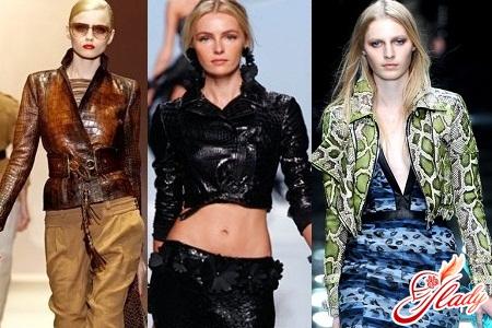 женские куртки из рептилии весна 2016