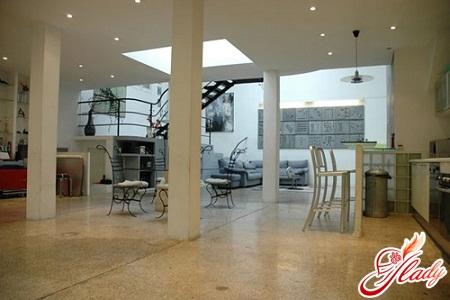 Стиль интерьера loft (по-английски это означает
