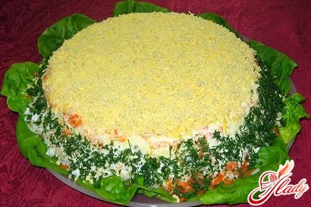 салат мимоза рецепт с яблоком