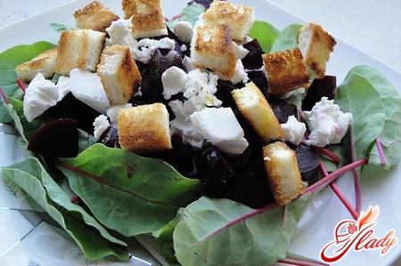 салат из свеклы с сыром