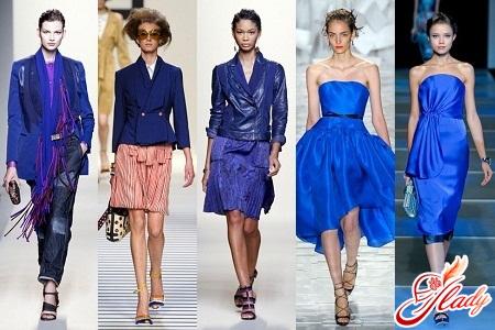модные синие цвета одежды 2016