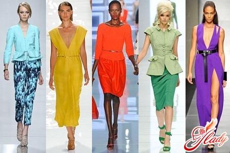 модные яркие цвета одежды 2016