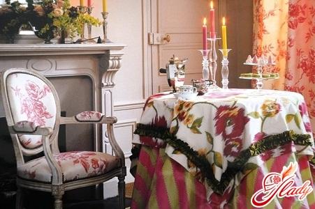 текстиль в интерьере столовой
