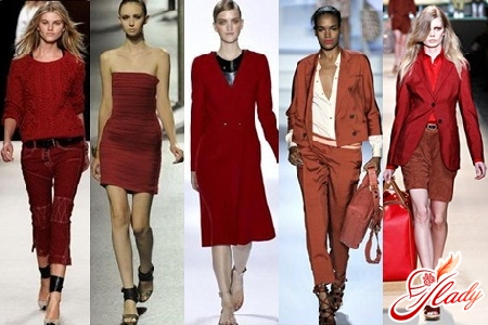 модные винные цвета одежды 2016