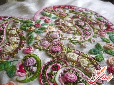 вышивка навивкой рококо