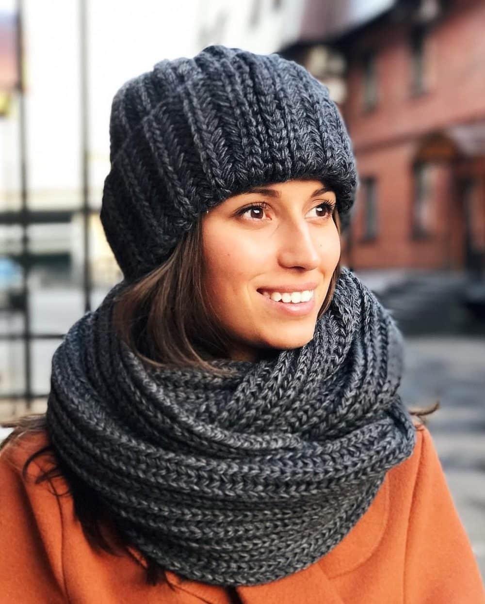 Как связать снуд хомут круговой шарф схема фото 496