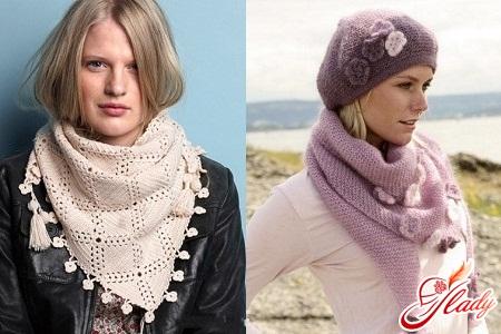 как связать красивый шарф