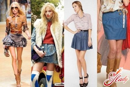 модные и стильные короткие джинсовые юбки