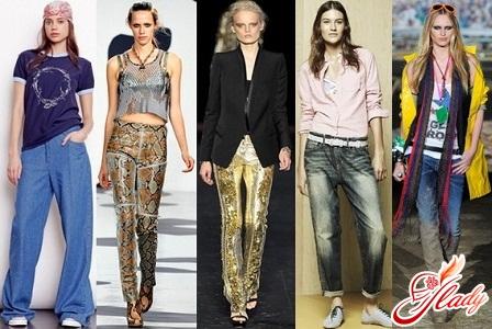 мода на женские джинсы весна 2012