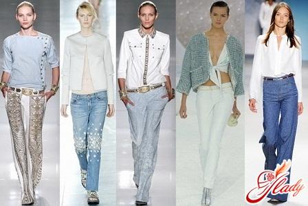 модные джинсы женские весна 2012