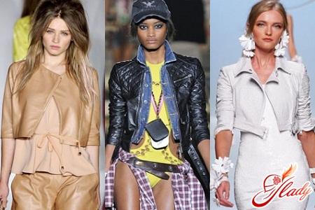 куртки женские весна 2012 косухи кожа