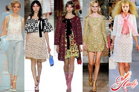 модные цвета и отделка в одежде 2012 весна лето