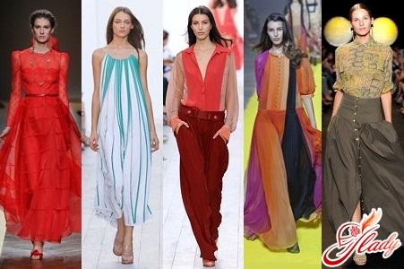 модные цвета и крой в одежде 2016 весна лето