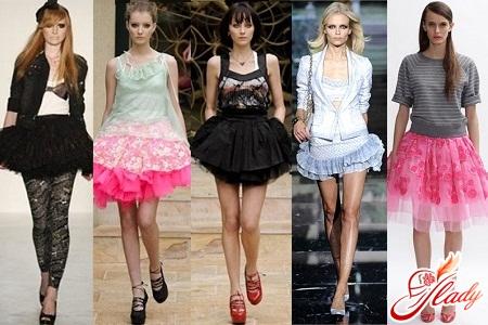 модная юбка пачка