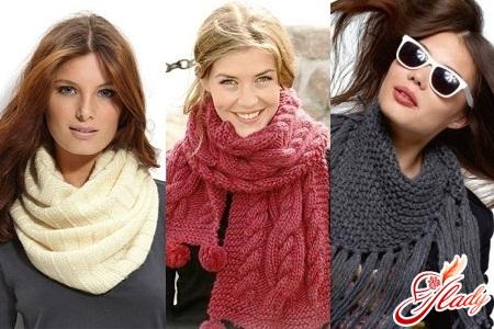 связать красивый шарф спицами