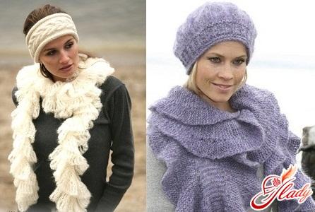 связать красивый женский шарф