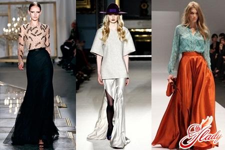 длинные юбки зима весна 2012