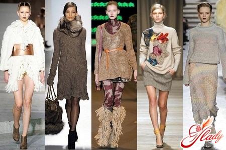 Вязаные модные вещи 2012:
