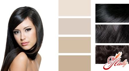 Как окрасить черные волос в русый