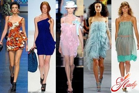 модные платья и босоножки 2012