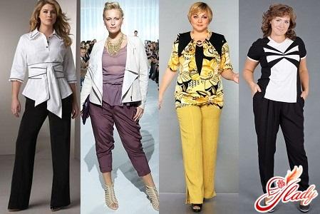 брюки для полных женщин фото