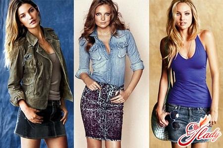 самые модные джинсовые юбки 2012