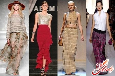 какая длинна юбки модна в 2012