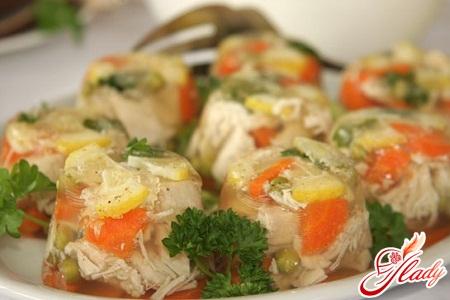 заливное из курицы с желатином рецепт с фото