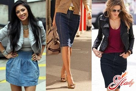 мода 2012 модели джинсовых юбок