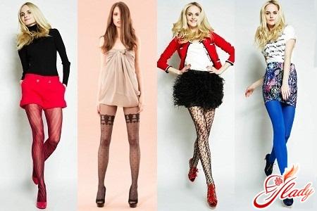 какие колготки модные в 2012