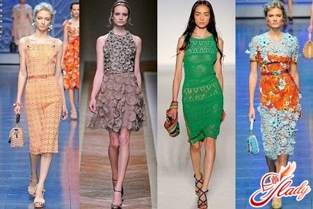 кружевные платья 2012