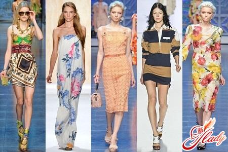летние платья фасон