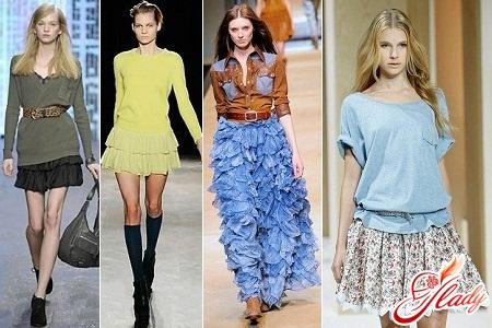 С чем одевать юбки с воланами