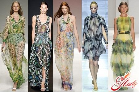 шифоновые платья лето 2012