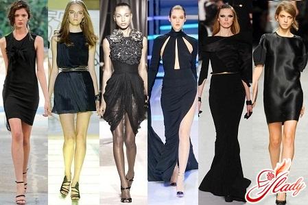 как носить черное трикотажное платье