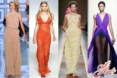 Летние платья в пол мода наступающего