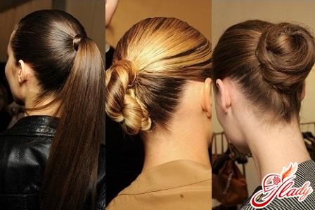 Прическа офисная на длинные волосы