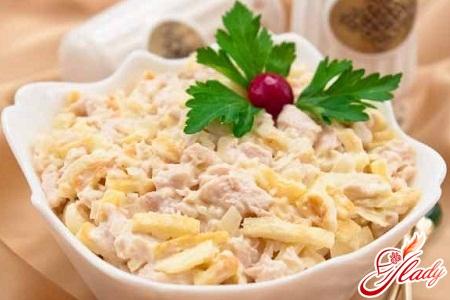 Нежность салат с курицей рецепт с фото