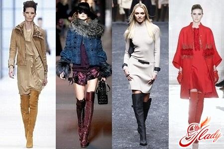 с чем носить высокие сапоги в 2012 году