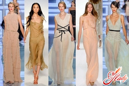 Обзор моделей платьев из шифона для полных женщин