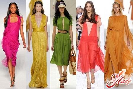 летние платья из шифона