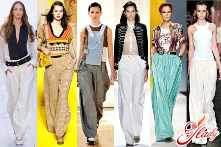 брюки женские летние широкие