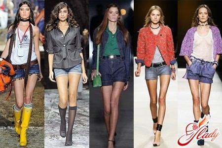 джинсовые шорты 2012