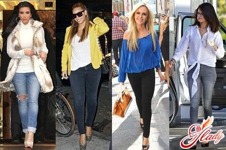 джинсы скинни женские