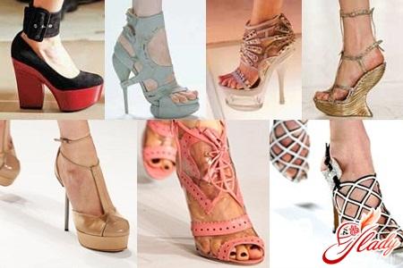 Модная женская обувь 2012 года