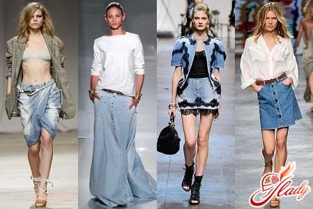 джинсовые юбки 2012